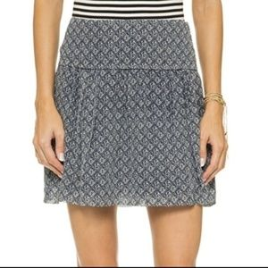 Madewell silk skyline skirt size 0